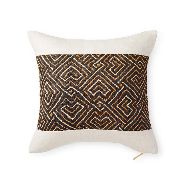 Kuba Cloth LXXVII - Throw Pillow Pillow DEMOCRATIC REPUBLIC OF CONGO