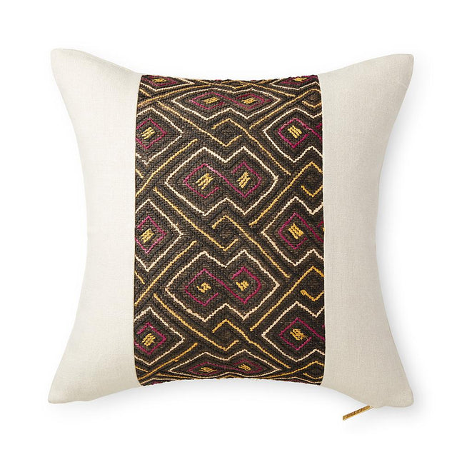 Kuba Cloth LXXVI - Throw Pillow Pillow DEMOCRATIC REPUBLIC OF CONGO