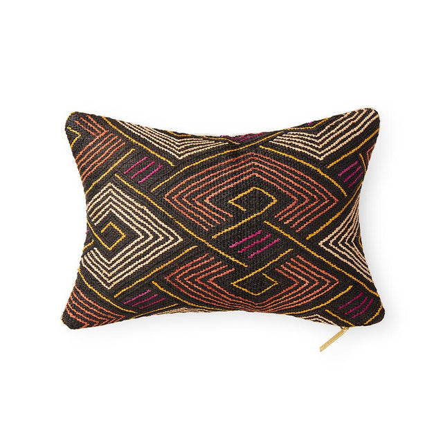 Kuba Cloth LXXXIII - Lumbar Pillow Pillow DEMOCRATIC REPUBLIC OF CONGO