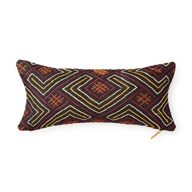 Kuba Cloth LXXXII - Lumbar Pillow Pillow DEMOCRATIC REPUBLIC OF CONGO