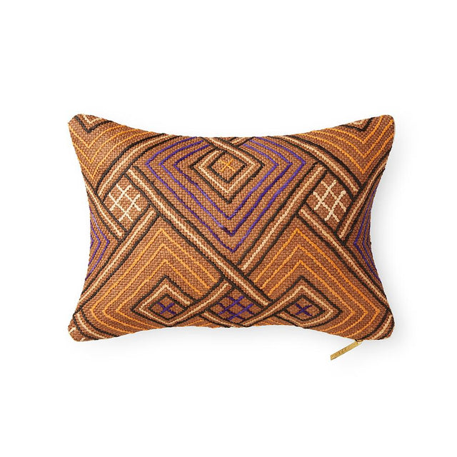 Kuba Cloth LXXXIV - Lumbar Pillow Pillow DEMOCRATIC REPUBLIC OF CONGO