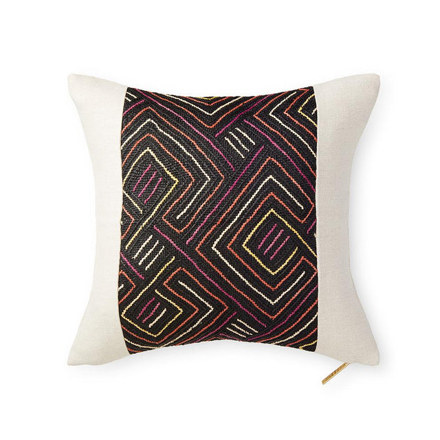 Kuba Cloth LXXXV - Throw Pillow Pillow DEMOCRATIC REPUBLIC OF CONGO