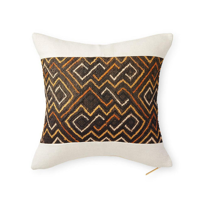 Kuba Cloth LXXX - Throw Pillow Pillow DEMOCRATIC REPUBLIC OF CONGO