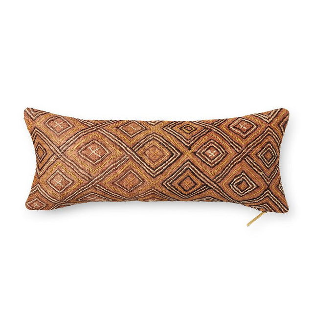 Kuba Cloth XLIII - Lumbar Pillow Pillow DEMOCRATIC REPUBLIC OF CONGO