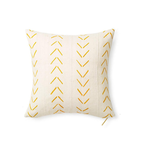 Mud Cloth Ecru VIII - Throw Pillow