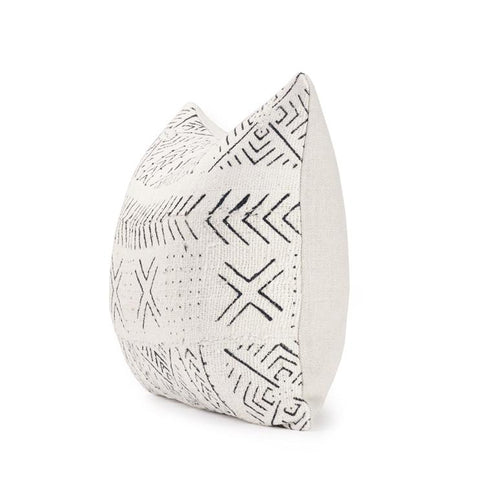 Ecru Mud Cloth III - Lumbar Pillow