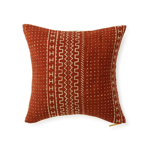 Red Mud Cloth XVI - Throw Pillow