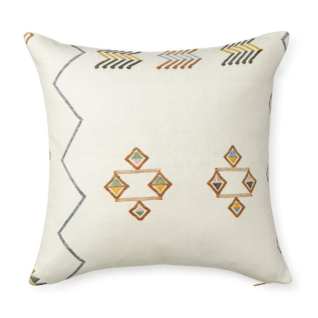 Ecru Cactus Silk - Euro Pillow