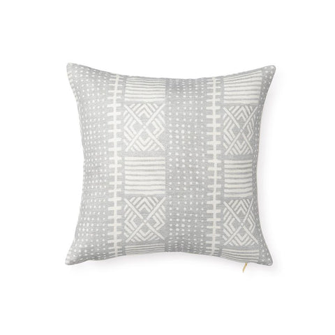 Dove Dots Mud Cloth - Throw Pillow
