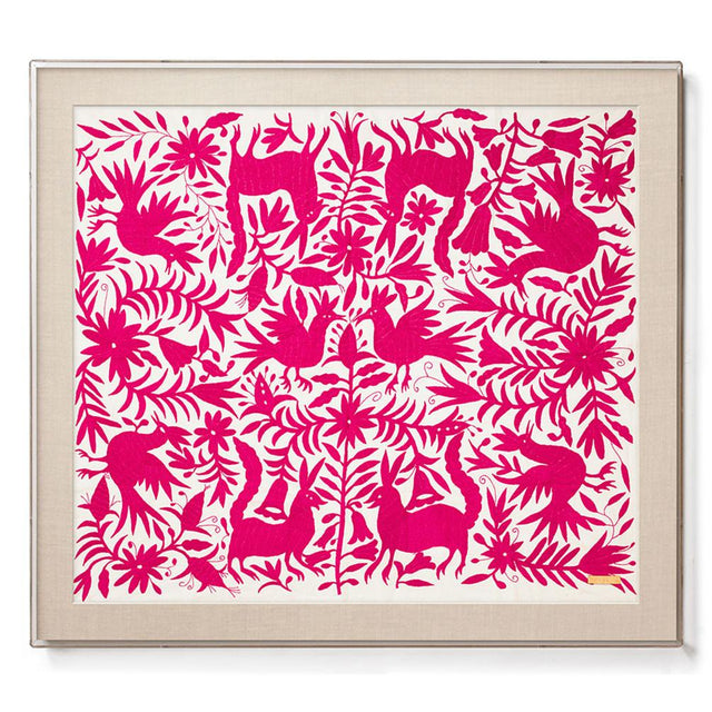 Pink Otomí - Sublime Framed Textile Textile Mexico