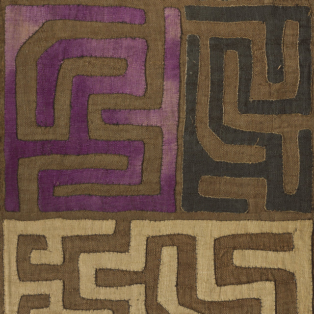 Plum Patchwork Kuba Cloth - Wallpaper Yardage St. Frank