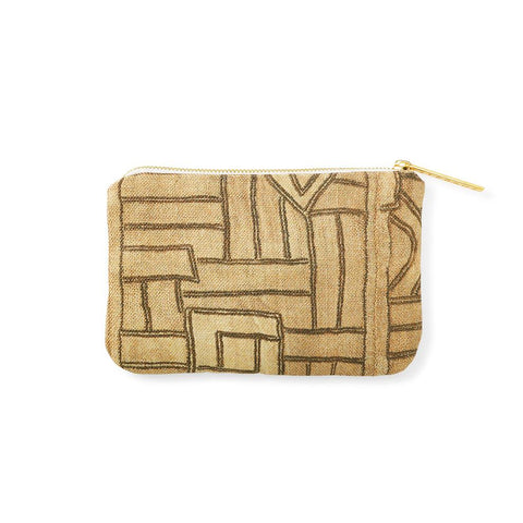 Golden Maze Kuba Cloth - Catchall