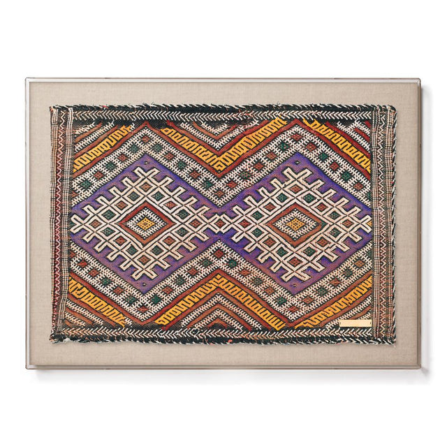 Purple Khemisset II - Accent Framed Textile SOLD OUT Morocco