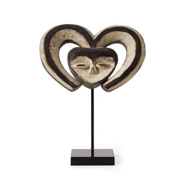 Heartshaped Kwele Mask - Art Object Curiosities Cameroon