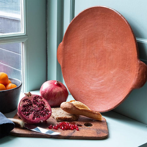 Red Clay - Flat Serving Platter