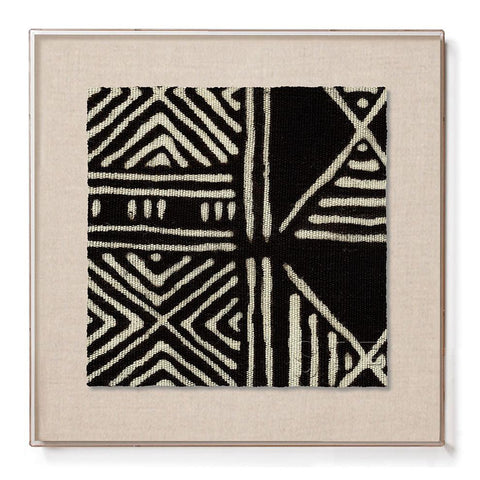 Black Classic Mud Cloth - Mini Framed Print