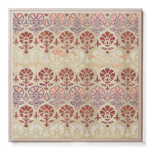 Silk Blush Suzani  Sublime Framed Print