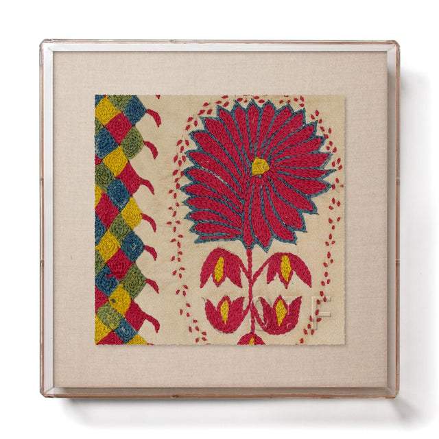 Silk Fuchsia Suzani - Mini Framed Print