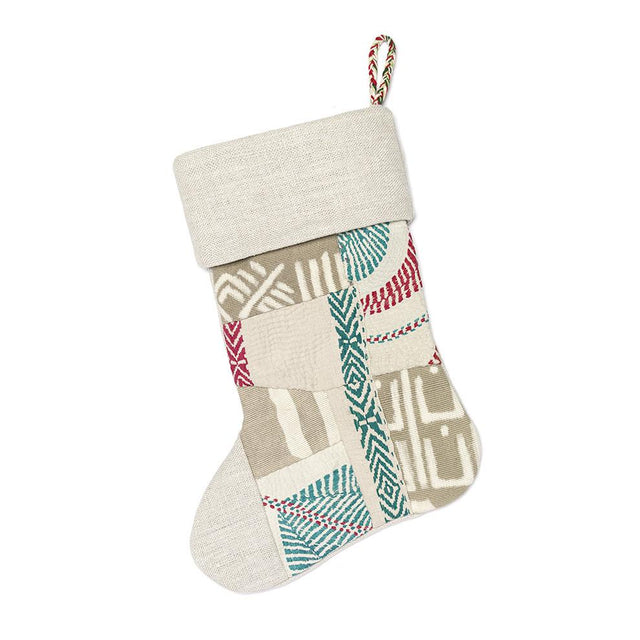 Mud Cloth and Kantha - Holiday Stocking Holiday Accent Mali & India
