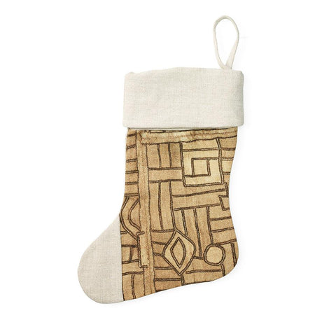 Golden Maze Holiday Stocking