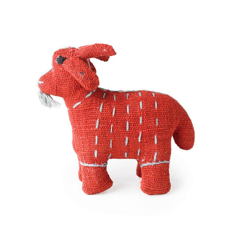 Red Stuffed Goat - Decorative Accessory
