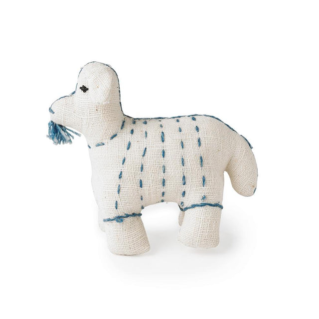 White Stuffed Goat - Decorative Accessory