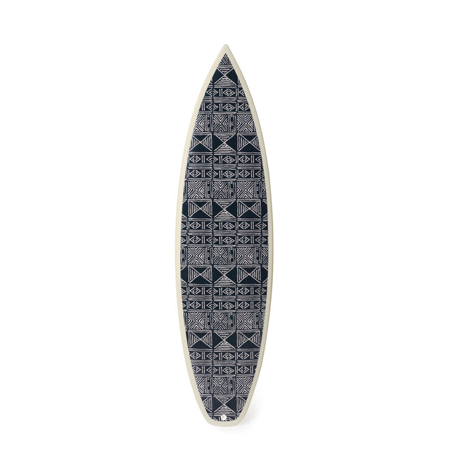 Black Classic Mud Cloth Shortboard - Art Object Surfboard Gary Linden x St. Frank