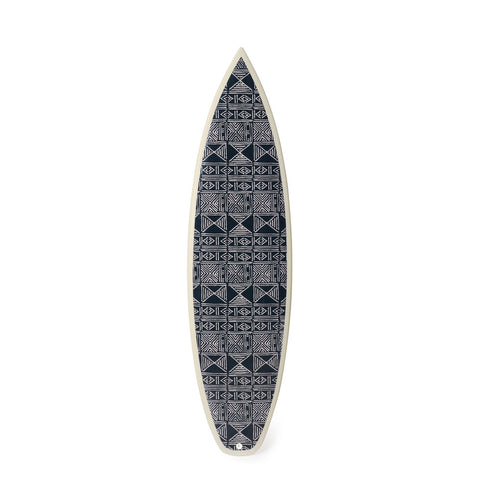 Black Classic Mud Cloth Shortboard - Art Object