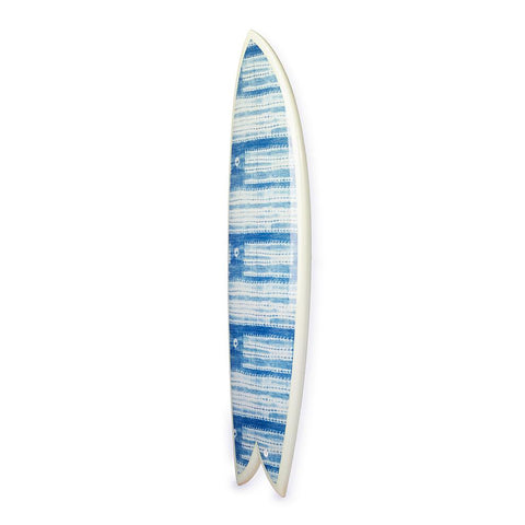 Washed Indigo Fish Surfboard - Art Object