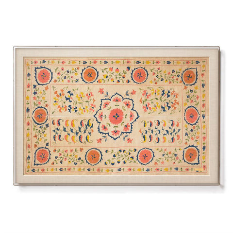 Silk Rose Suzani - Sublime Framed Textile