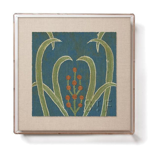 Teal Vines Suzani - Mini Framed Print