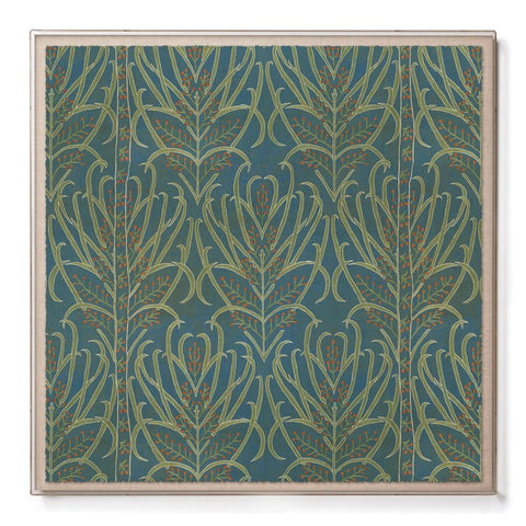 Teal Vines Suzani - Sublime Framed Print