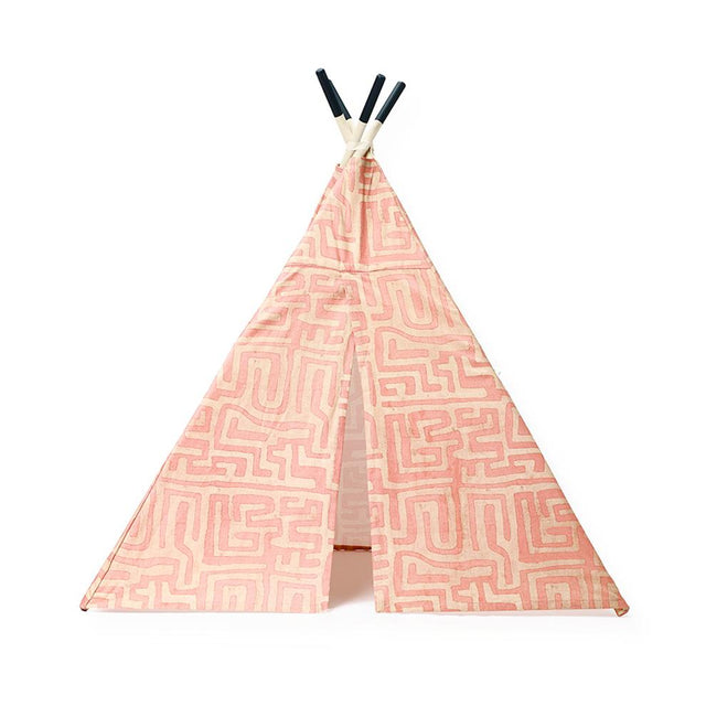 Terracotta Classic Kuba Cloth Teepee - Accent Furniture