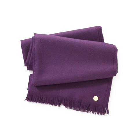 purple Peruvian baby alpaca throw for the traveler