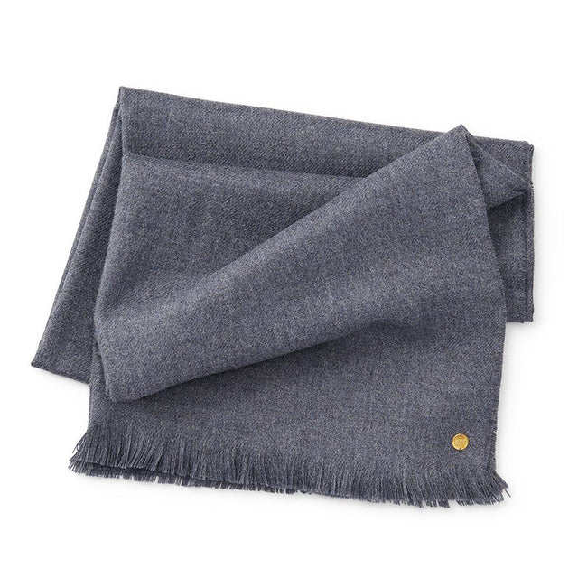 Charcoal Blue Baby Alpaca Throw - Blanket Blanket Peru