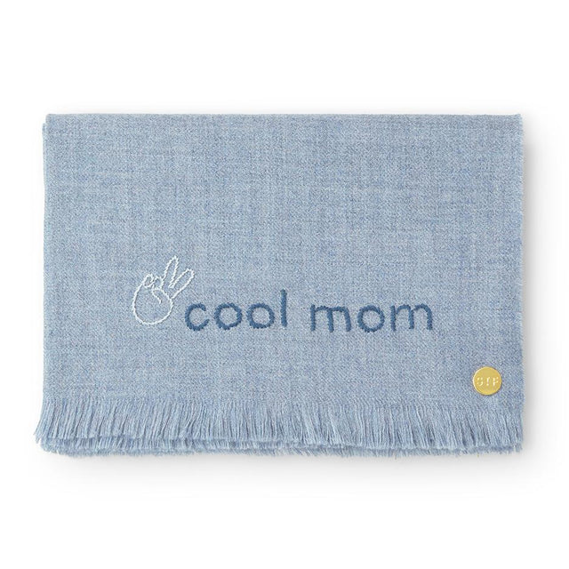 """Cool Mom"" Embroidered Baby Alpaca Throw - Blanket Blanket Peru"