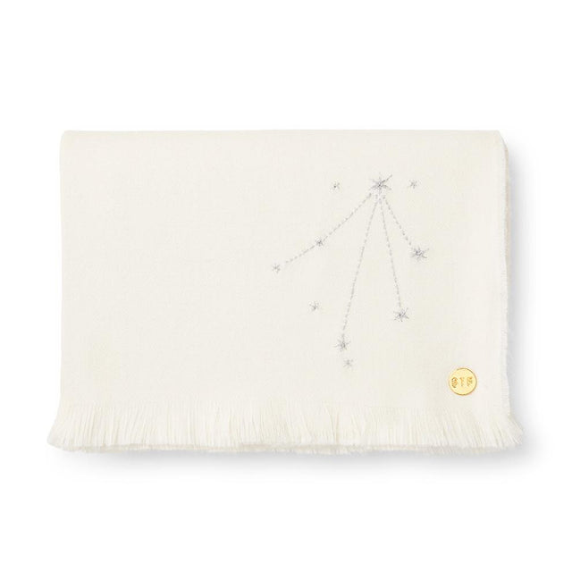 """Libra"" Embroidered Baby Alpaca Throw - Blanket Blanket Peru"