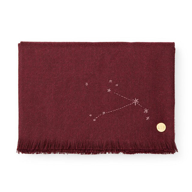 """Aries"" Embroidered Baby Alpaca Throw - Blanket Blanket Peru"