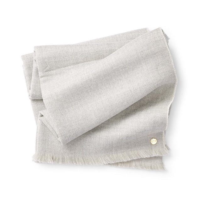 Soft Grey/Crème Double Sided Baby Alpaca Throw - Blanket