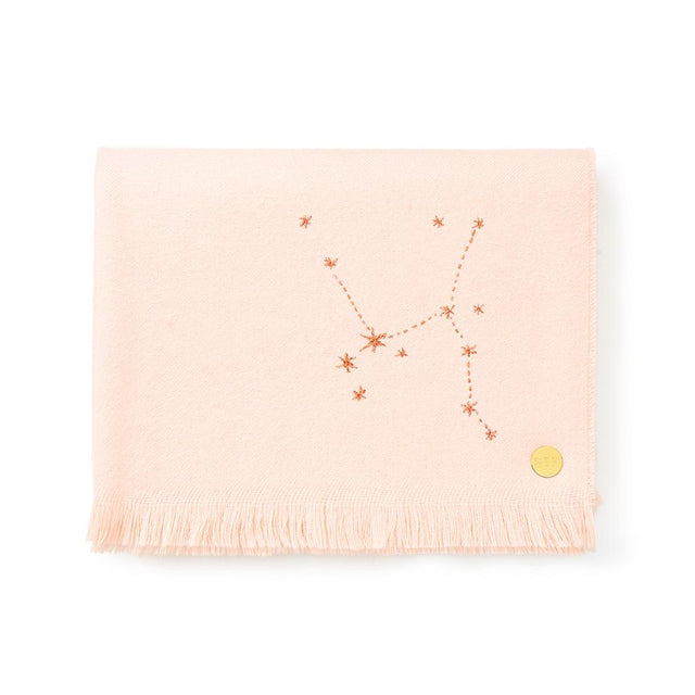 """Sagittarius"" Embroidered Baby Alpaca Throw - Blanket Blanket Peru"