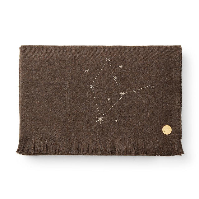 """Virgo"" Embroidered Baby Alpaca Throw - Blanket Blanket Peru"