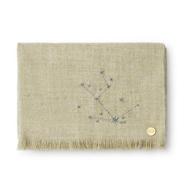 """Taurus"" Embroidered Baby Alpaca Throw - Blanket Blanket Peru"