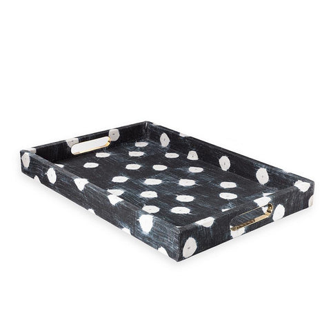 Dots Indigo - Large Tray