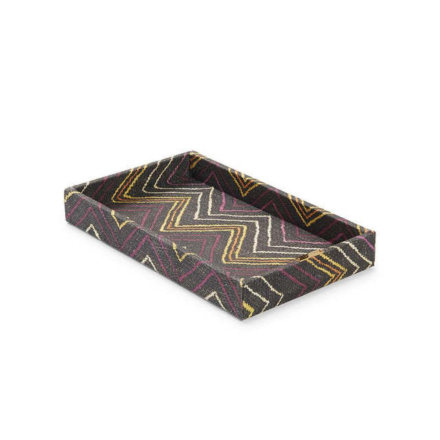 Plum Chevron Kuba Cloth - Vanity Tray Default Philippines