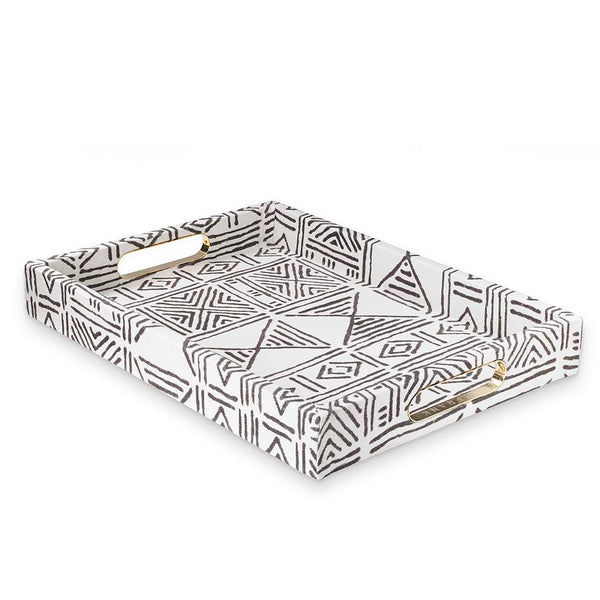 Ecru Classic Mud Cloth - Standard Tray