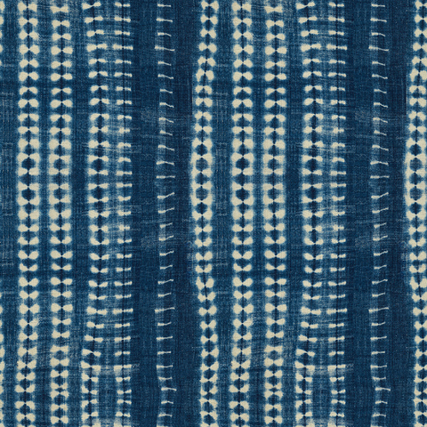 Dark Vines Indigo - Fabric