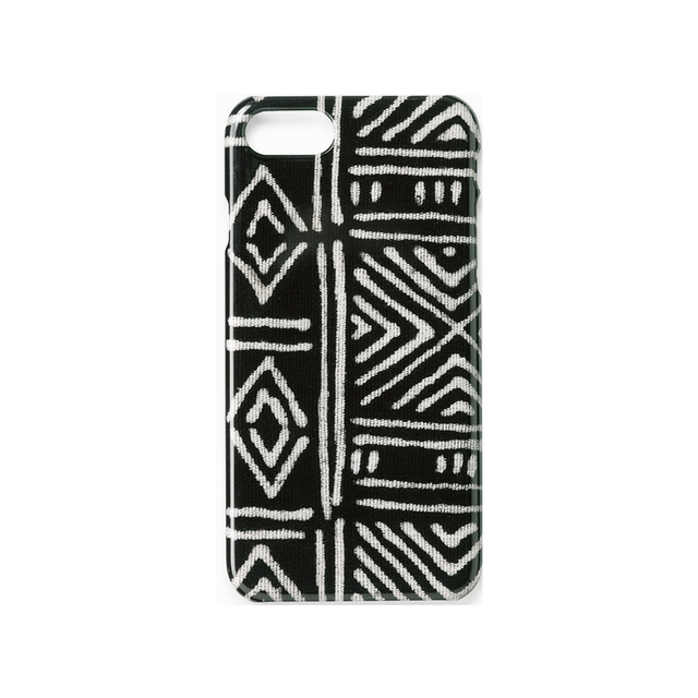 Black Classic Mud Cloth - iPhone 7/8 Case Travel Accessories St. Frank