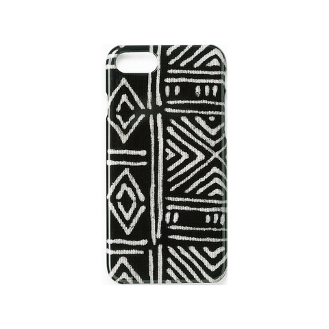Black Classic Mud Cloth - iPhone 7/8 Case