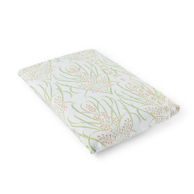 Light Teal Vines Suzani Crib Sheet - Bedding Default Portugal