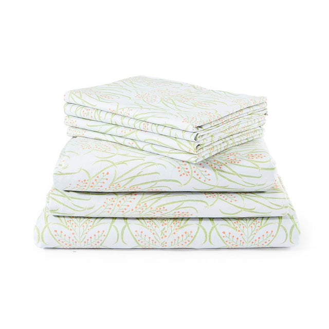 Light Teal Vines Suzani - Sheet Set Default Portugal